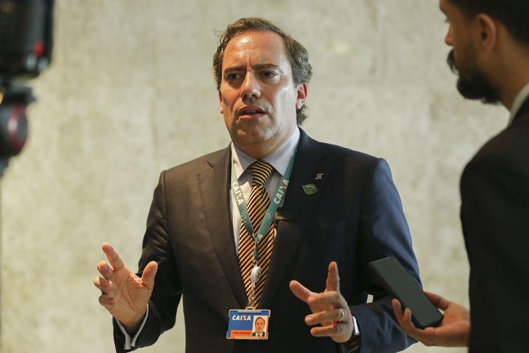 O presidente da Caixa Econômica Federal, Pedro Guimarães, disse que o banco tem aproveitado a redução da taxa Selic para repassá-la a seus clientes - Jose Cruz/Agência Brasil