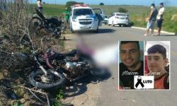 Dois motociclistas morrem em grave acidente em Boa Vista, Marataízes