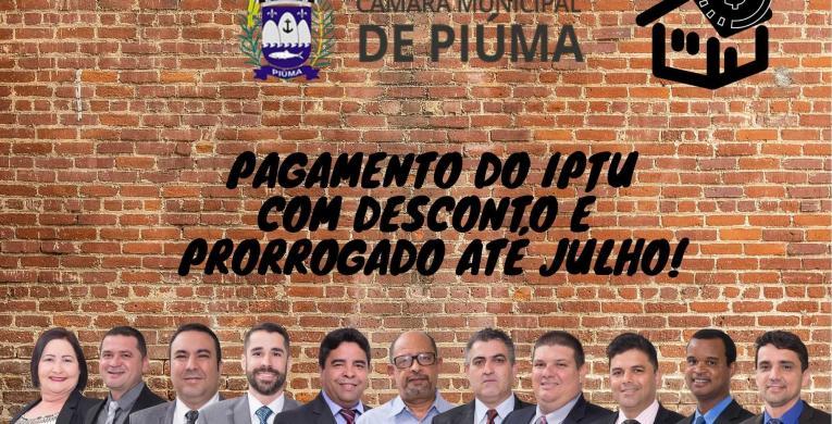 Prefeitura de Piúma prorroga, mais uma vez, pagamento do IPTU 2020