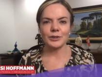 Gleisi Hoffimann faz vídeo de apoio a pré-candidatura de Monica Quinha em Itapemirim
