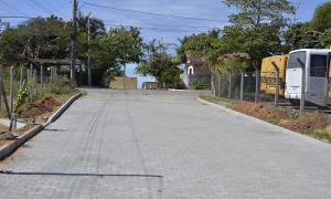 Pavimentação dá nova cara ao bairro Planalto, em Anchieta