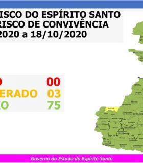 26º Mapa de Risco Covid-19 coloca Anchieta no Risco Moderado novamente