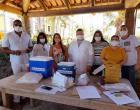 Idosos abrigados em Marataízes recebem vacina contra Covid-19