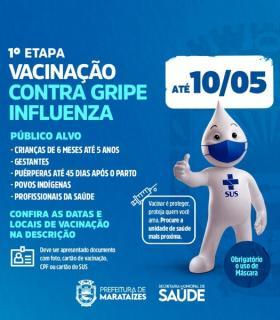 Marataízes continua com a vacinação contra a Influenza; Confira cronograma