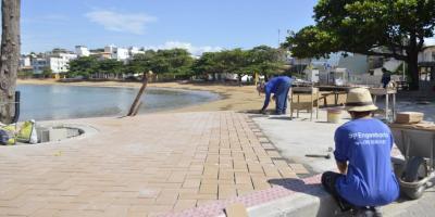 Obras avançam em Iriri para revitalizar Costa Azul