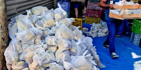 Marataízes iniciou distribuição de kits-feira nesta terça(28)