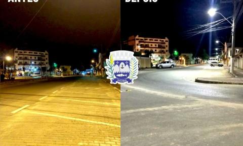 Prefeitura de Piúma substitui lâmpadas comuns por LED