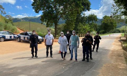 Guarda Municipal atua em barreira sanitária entre Anchieta e Alfredo Chaves