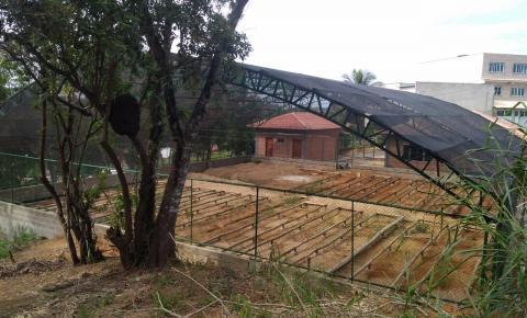 Parque Sede Papagaio; obras na reta final em Anchieta