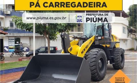 PIÚMA: Prefeitura adquire pá carregadeira por meio de verba da Câmara Municipal