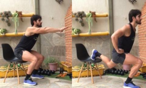 Como malhar em casa: personal ensina 5 exercícios com cadeira
