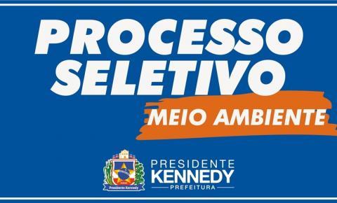 Presidente Kennedy: Secretaria de Meio Ambiente divulga edital para processo seletivo simplificado