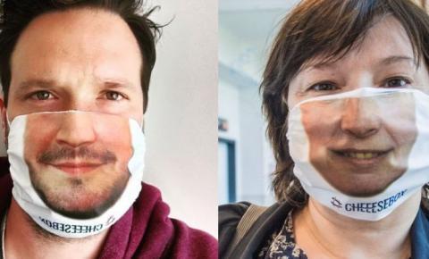 Empresário cria máscaras com próprio rosto das pessoas e dribla crise