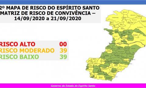 Espírito Santo já não tem mais cidades com risco alto de Covid-19