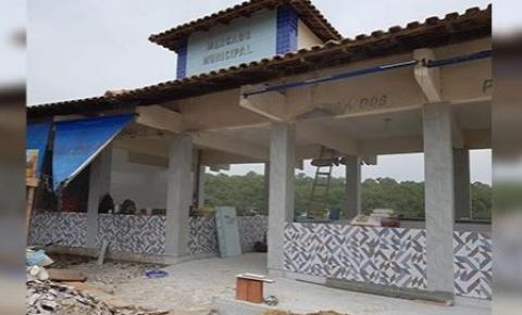 Obras seguem em andamento para reforma do Mercado Municipal de Peixes de Anchieta