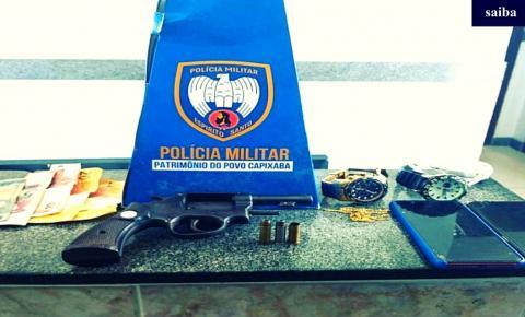 PM prende dois homens com posse de arma de fogo na Cidade Nova, em Marataízes