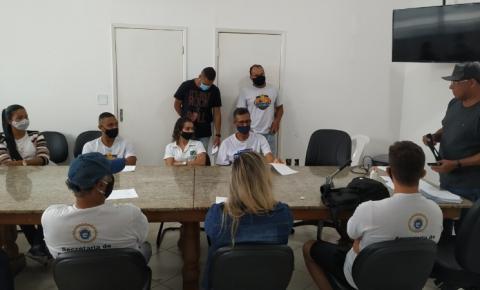 Secretaria de Esportes de Marataízes reúne servidores para orientar sobre retomada dos trabalhos
