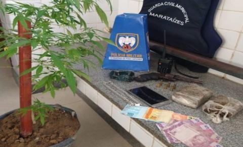 Rapaz de 19 anos é preso com drogas e por ameaçar moradores de bairro em Marataízes