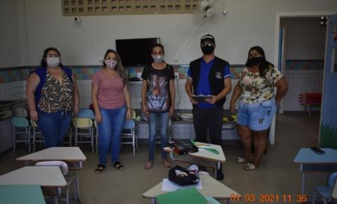 Vigilância Sanitária realiza inspeção para retorno das aulas nas escolas da Rede Municipal de Ensino em Presidente Kennedy
