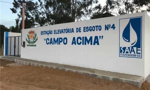 Esgotamento sanitário beneficia mais de 80% da população de Campo Acima