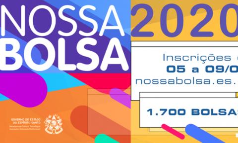 Inscrições para Nossa Bolsa 2020 começam na próxima quarta (05)