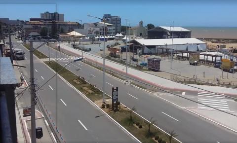 Praia Central de Marataízes recebe pintura de sinalização viária; Veja vídeo