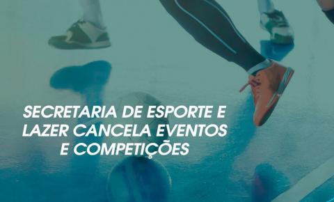 CORONAVÍRUS: Secretaria de Esporte e Lazer cancela programação de eventos e competições em Marataízes