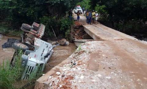 Trabalhador morre preso às ferragens de caminhão após ponte ceder em Castelo